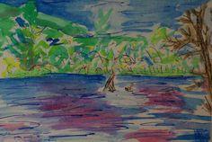 "Georgia, VT, Watercolor on Paper, 4"" x 6"", 2005"