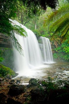 WATERFALL  Russell Falls in Tasmania is an icon to the island state. Photo by Darran Leal via World Photo Adventures.