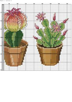 Cactus Cross Stitch, Cross Stitch Cards, Cross Stitch Flowers, Cross Stitching, Embroidery Stitches, Embroidery Patterns, Hand Embroidery, Cross Stitch Designs, Cross Stitch Patterns