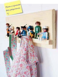 Schlüsselbrett, Utensilo aus Playmobil-Figuren, DIY