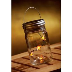 Bring back those lazy summer nights when you and your friends chased fireflies.    These are faux, not real, but they're every bit as magical. To light them, unscrew the silvery lid and flip the switch at the bottom.