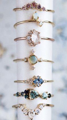(I like the top four) Non traditional engagement rings Cute Jewelry, Jewelry Box, Jewelry Accessories, Fashion Accessories, Fashion Jewelry, Jewlery, Dainty Jewelry, Bridal Jewelry, Diamond Jewelry