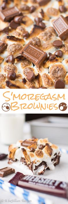 Smoregasm Brownies (collage)