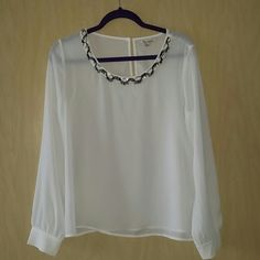 The Clothing Company Blouse White blouse with embellished neckline. Brand new, never worn. The Clothing Company  Tops Blouses