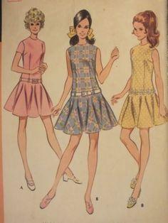 Glam VTG 69 McCalls 9645 Misses Drop-waist Dress PATTERN 10/32.5B