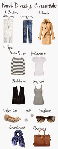 fashioninfographics: French dressing: 12 essentialsVia