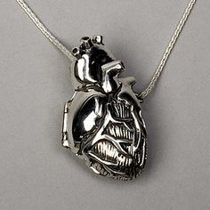 Silver Anatomical Heart Locket | 19 Stunningly Weird Pieces Of Anatomy Jewelry