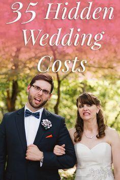 35 Hidden Wedding Costs