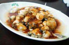 蒜泥蚵仔,蚵仔大粒。@賓國古早味小吃 #Taiwanese #Oyster with garlic sauce #food #Taiwan
