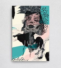 Bonnie  #Canvas #interiordesign #surreal #drawing #print #giftshop #abstract #etsy #art4sale #artshop