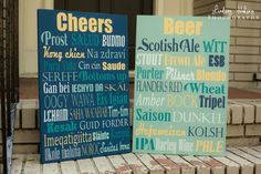 Cheers wood sign 16 x 24 by IrisLaneDesigns on Etsy