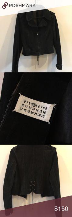 Martin Margiela butter soft black suede jacket Super side suede biker jacket Maison Martin Margiela Jackets & Coats
