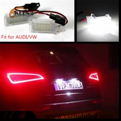 Fit For AUD I/VW Special Car LED License Plate Lamp Canbus Numper Plate Lights Auto Parts