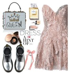 """queen or princess ?"" by nataskaz ❤ liked on Polyvore featuring Trash-Couture, Cara, Dr. Martens, Nude by Nature and Yves Saint Laurent"