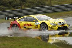 David Coulthard, DHL Paket Mercedes AMG C-Coupé - yellow car