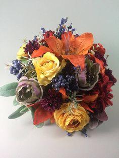 Fall wedding bouquet, Fall bridal bouquet, Fall artificial bouquet, Fall boho bouquet, Bouquet fall, Wedding bouquet fall, Fall wedding Bridal Bouquet Fall, Silk Wedding Bouquets, Fall Wedding, Floral Wreath, Wreaths, Boho, Halloween, Handmade Gifts, Etsy