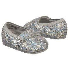 Kids MICHAEL MICHAEL KORS ' Baby Grace Glitter Silver Metallic Shoes.com