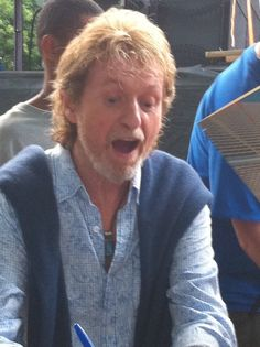"""Jon Anderson (Yes)--someone handed Jane (Jon's wife) their copy of """"Olias"""" for Jon to sign.I think I'd react this way too if someone handed me a copy of my debut album to sign. Jon Anderson Yes, Yes Music, Psychedelic Bands, Ronnie Van Zant, Progressive Rock, Debut Album, Classical Music, Rock Music, Cool Bands"""