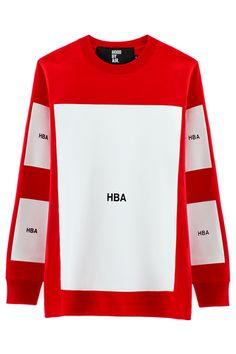 Hood By Air Block L/S T-Shirt (red)