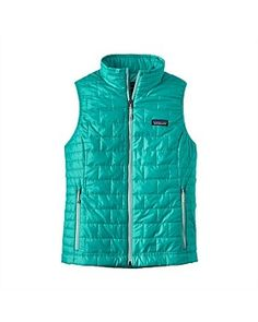 Warm, windproof, water-resistant, and incredibly lightweight, the Patagonia Women's Nano Puff® Vest in Strait Blue has it all! Patagonia Nano Puff, Puff Vest, Patagonia Outdoor, Outdoor Woman, Outdoor Outfit, Mandarin Collar, Vest Jacket, Winter Jackets, Blue