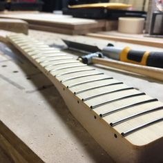Bamboo fretboard telecaster guitar neck.