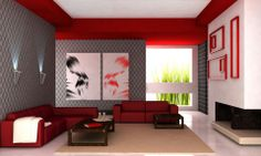 Modern Living Room with Artistic Colours.