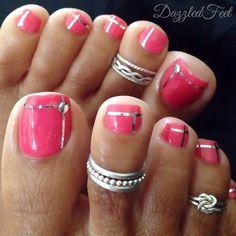 New Fall Pedicure Ideas Toes Style Ideas Shellac Pedicure, Fall Pedicure, Pedicure Colors, Pedicure Ideas, Wedding Pedicure, Wedding Toes, Pink Pedicure, Pretty Toe Nails, Cute Toe Nails