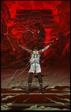 LeBron James Legacy of a Lion Illustration