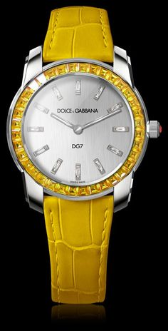 Women's Watch - White Gold with Yellow Sapphires - DG Watches | Dolce Gabbana Watches for Men and Women