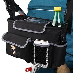 Baby Infant Pram Stroller Buggy Storage Bag Bottle Holder Organizer Pouch FI
