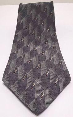 Men's Gray Tie by Barrington 100 Silk | eBay