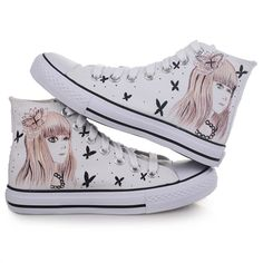 wholesale Design sneakers lovely fashion girls painted shoe M-Z-B1110