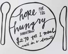 2015 Hope for the Hungry Radiothon. It costs just $2.70 to provide a meal and care for someone in need. Fundraising, It Hurts, Meals, Instagram Posts, Design, Meal, Yemek, Fundraisers