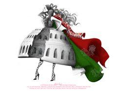 Fashion Illustration for Rubaiyat Fashion Luxury Market - introducing Italian products :)
