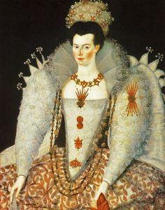 Mary Fitton, maid of honour to Queen Elizabeth I. Compare with her other portrait. Elizabeth I, Renaissance Fashion, Renessanssin Taide, Taaperoikäiset Tytöt, Kuningattaret, Renesanssi, Opettajat, Historia, Baroque