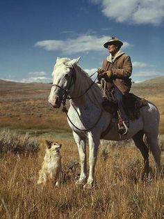 Aug. 1942 - Shepherd with his horse and dog on Gravelly Range, Madison County, Montana.