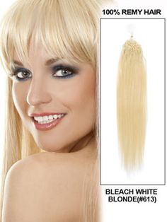 Blonde Micro Bead Human Hair Extensions 8 - 32 Inches