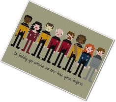 Pixel People  Star Trek  The Next Generation  by weelittlestitches, $7.00 // I've been making my way through the whole series on Netflix and now I really want to make this.