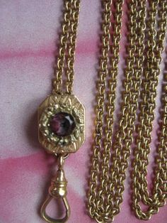 Victorian Ladies Watch Chain Necklace