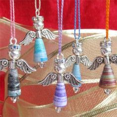 Tutorial: How to make Paper Bead Angels.