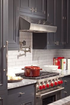 Grey And Red Shaker Style Kitchen Pinterest Shaker Style - Grey and red kitchen ideas