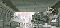 Concept art for 'Star Wars' by Ralph Mcquarrie