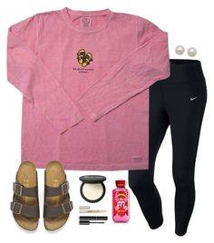 not all who wonder are lost by madiweeksss on Polyvore featuring NIKE, Birkenstock, Honora, It Cosmetics, Chanel and Clinique