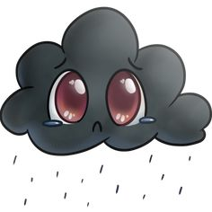 Sad Cloud by Chiramii-chan on DeviantArt Monsoon, Preschool Activities, Minnie Mouse, Disney Characters, Fictional Characters, Sad, Clouds, Deviantart, Stickers