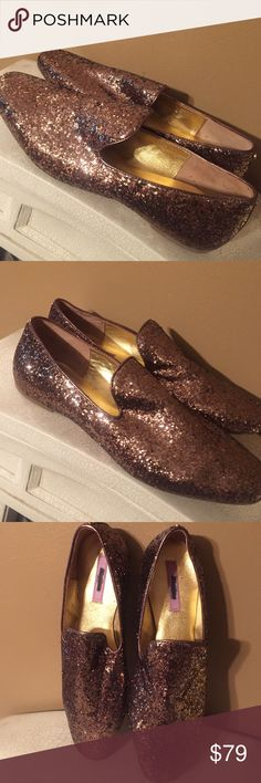 TED.  BAKER slippers Beautiful glitter slippers ballerina flats 🎉  These are from a close out store. New no tags. Rose gold copper color 🎉 come also have a Ted Baker purse on another listing that matches these shoes. Bundle and save 🎉 Ted Baker London Shoes Slippers