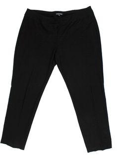 Eileen Fisher Large Women's Pants Viscose Nylon Lycra Black Elastic waist #EileenFisher #CasualPants