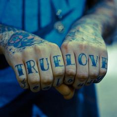 TRUE LOVE. Tathunting for hand tattoos