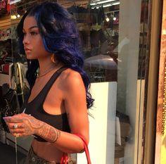 India Westbrooks: Blue and Purple hair