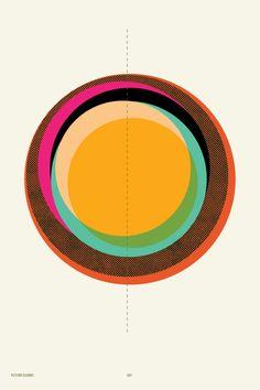 Illustration by Korbel Bowers. Sun Illustration, Motif Vintage, Creative Colour, Circle Pattern, Graphic Design Inspiration, Form, Typography Design, Graphic Art, Circle Graphic Design