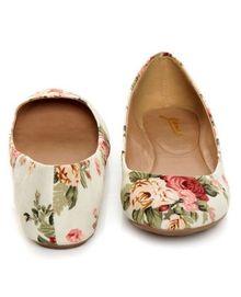 GoMax Sienna 22 Cream Floral Fabric Ballet Flats - $29.00 ~ really cute.  lulus.com